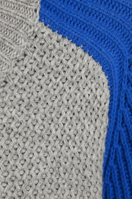 Iris & Ink Honeycomb cotton and cashmere-blend sweater
