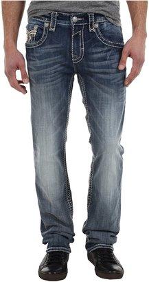 Rock Revival Tony T Flap Pocket Straight Jean (Dark Indigo) - Apparel