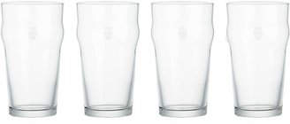 Crate & Barrel Set of 4 Pint Tumblers with Crown