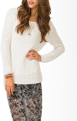 Forever 21 Contemporary Open-Knit Sweater