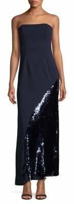 Eliza J Embellished Strapless Gown