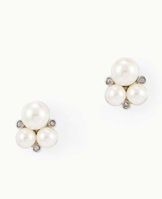 Ann Taylor Heirloom Pearl Cluster Earrings