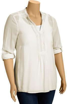 Old Navy Women's Plus Pintucked Roll-Sleeve Blouses