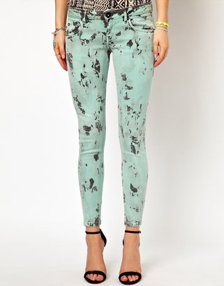 Pepe Jeans Printed Skinny Jeans