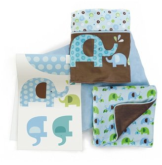 Skip Hop Elephant Parade Complete Sheet 4 Piece Bedding Set