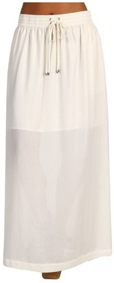 Kenneth Cole New York - Drawstring Waist Long Skirt (Ecru) - Apparel