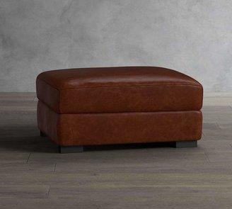 Pottery Barn Turner Leather Storage Ottoman