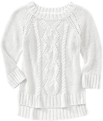 Gap Pointelle cable sweater