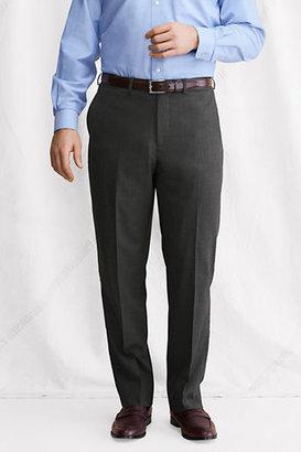 Lands' End Men's Plain Front Comfort Waist SuperNatural™; Wool Dress Pants