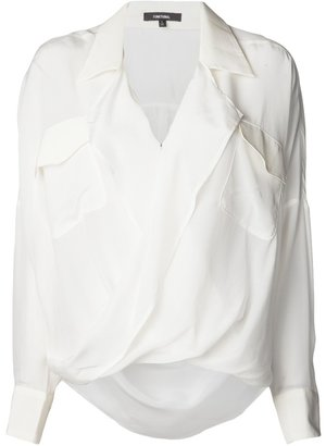 Funktional front fold blouse