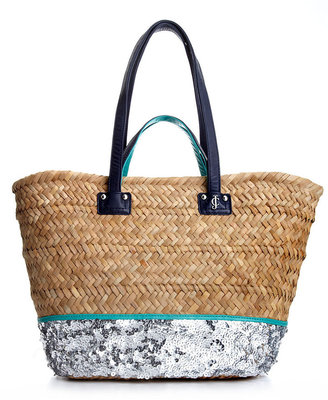 Juicy Couture Handbag, Straw and Sequin Beach Tote