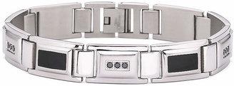 Black Diamond FINE JEWELRY Mens 1/2 CT. T.W. Steel Bracelet
