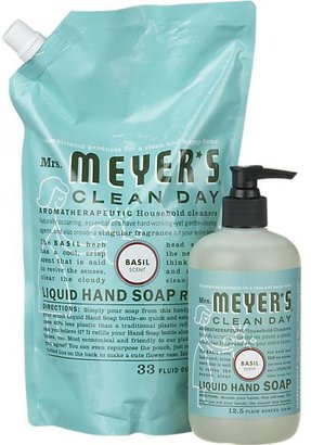 Mrs. Meyer's 2-Piece Clean Day® Basil Hand Soap and Refill Set