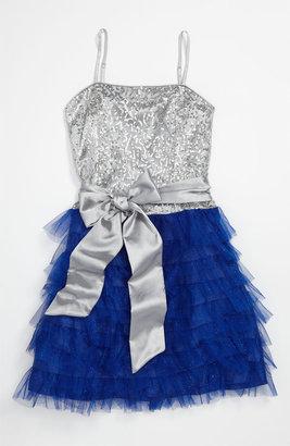Un Deux Trois Ruffle Party Dress (Big Girls)