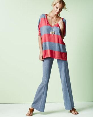 Minnie Rose Pow Block-Stripe Pullover, Women's