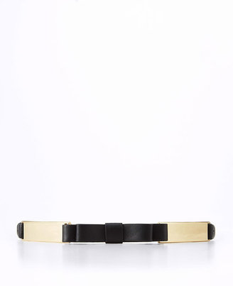 Ann Taylor Leather Bow Belt