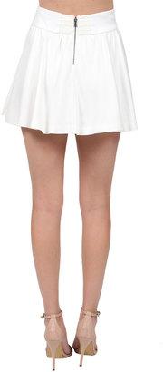 Alice + Olivia Luann Flared Skirt in White