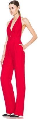Valentino Halter Jumpsuit in Red