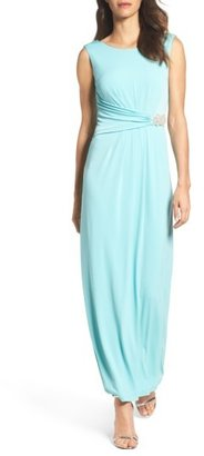 Women's Ellen Tracy Embellished Jersey Gown $168 thestylecure.com