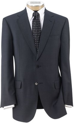 Jos. A. Bank Signature Gold 2-Button Wool Suit- Blue Muted Plaid