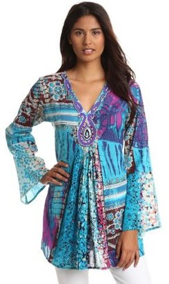 Chaudry Women's Long Sleeve Embroided Tunic