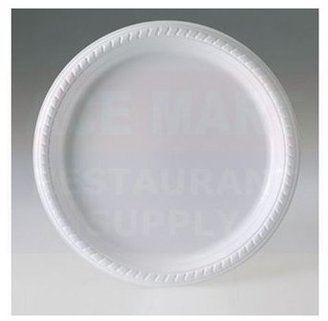 """Solo Cup Co. Inc. 10-1/4"""" White Disposable Plastic Plate, Pack of 25"""
