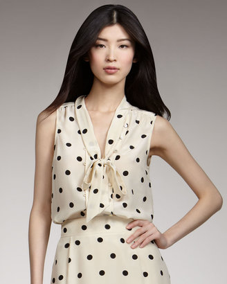 Marc by Marc Jacobs Hot-Dot Printed Top