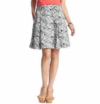 LOFT Fern Print Linen Skirt