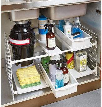 Container Store Expandable Undersink Organizer White