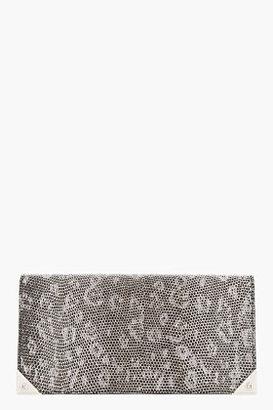 Alexander Wang Greyscale Lizardskin Long Prisma Wallet