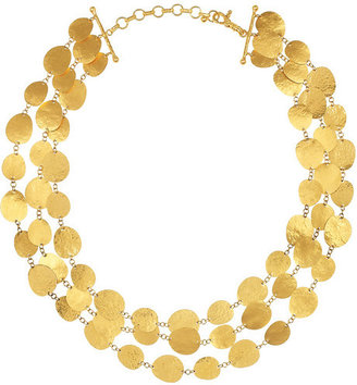Gurhan Contour hammered 24-karat gold necklace