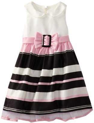 Bonnie Jean Girls 2-6X Shantung Stripe Dress