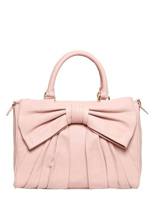 RED Valentino Nappa Leather Bow Top Handle