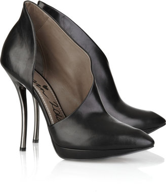 Lanvin Cutout leather pumps