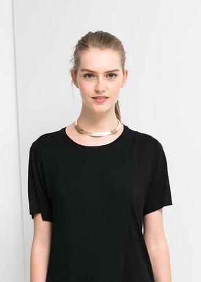 MANGO Chiffon Layer T-Shirt