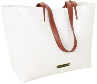 Betsey Johnson Sweet Tart E/W Tote (White) - Bags and Luggage