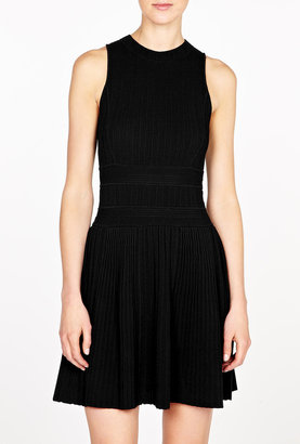 Theory Enchanted Chloh Knitted A-line Fit And Flare Dress