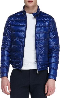 Moncler Acorus Lightweight Puffer Jacket, Blue