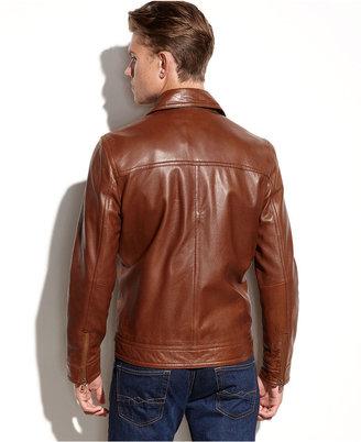 Kenneth Cole Reaction Coat, Washed Leather Jacket