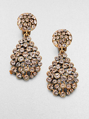 Oscar de la Renta Teardrop Clip-On Earrings