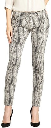 Romeo & Juliet Couture black animal print stretch skinny jeans