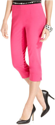 INC International Concepts Pants, Curvy-Fit Pull-On Capri