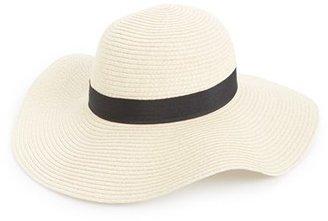 Junior Women's Amici Accessories Floppy Straw Hat - Beige $22 thestylecure.com