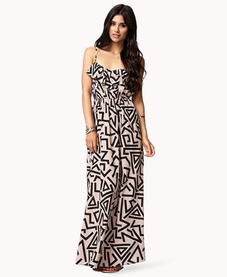 Forever 21 Abstract Geo Maxi Dress