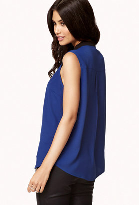 Forever 21 Zippered High-Low Top