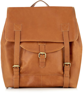 Topman Tan Leather Backpack