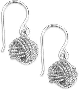 Giani Bernini Twisted Knot Drop Earrings in Sterling Silver