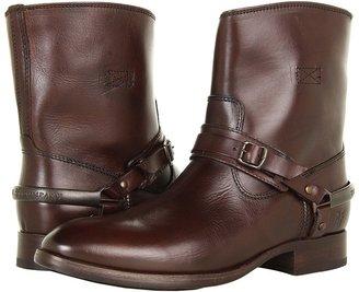 Frye Lindsay Spur Short (Dark Brown Smooth Full Grain) - Footwear