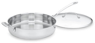 Cuisinart Contour™ Stainless Steel 5-Quart Covered Saute Pan with Helper Handle