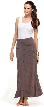 INC International Concepts Petite Skirt, Tiered Maxi